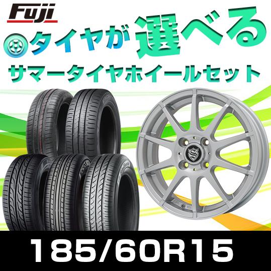 【送料無料】 185/60R15 15インチ BRANDLE ブランドル 562SS 5.5J 5.50-15 選べるタイヤ サマータイヤ ホイール4本セット