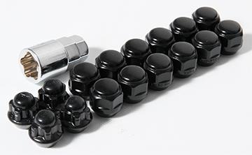 ブラックショートナット&ロックナット(軽自動車用)