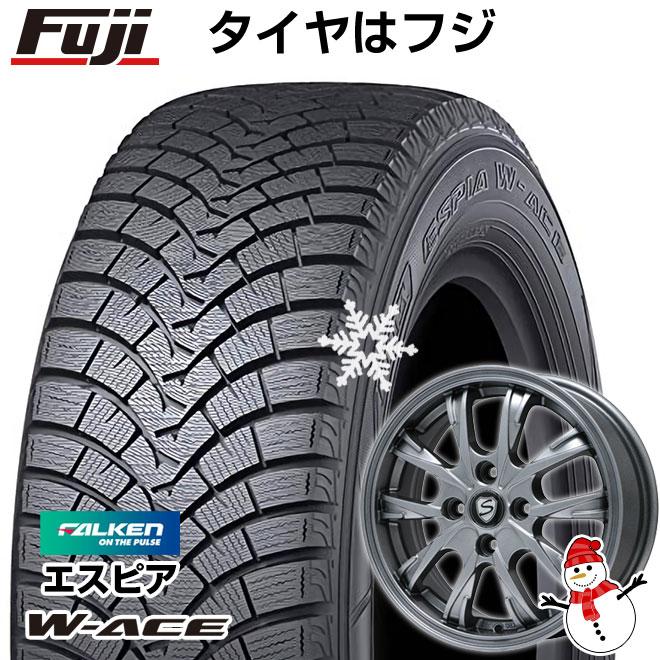 【送料無料】 FALKEN ファルケン エスピア W-ACE 165/65R14 14インチ スタッドレスタイヤ ホイール4本セット BRANDLE ブランドル 486 5.5J 5.50-14