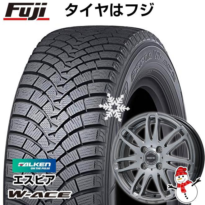【送料無料】 FALKEN ファルケン エスピア W-ACE 175/70R14 14インチ スタッドレスタイヤ ホイール4本セット BRANDLE ブランドル G72 5.5J 5.50-14
