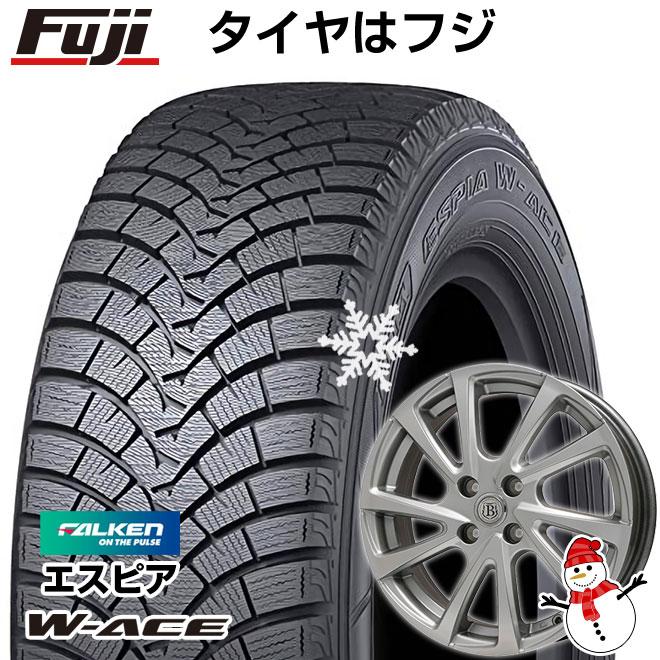 【送料無料】 FALKEN ファルケン エスピア W-ACE 155/65R14 14インチ スタッドレスタイヤ ホイール4本セット BRANDLE ブランドル E04 4.5J 4.50-14