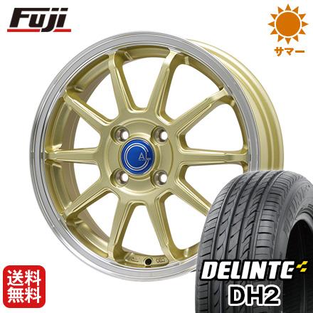 【送料無料】 175/65R15 15インチ BRANDLE-LINE ブランドルライン カルッシャー ゴールド/リムポリッシュ 5.5J 5.50-15 DELINTE デリンテ DH2(限定) サマータイヤ ホイール4本セット