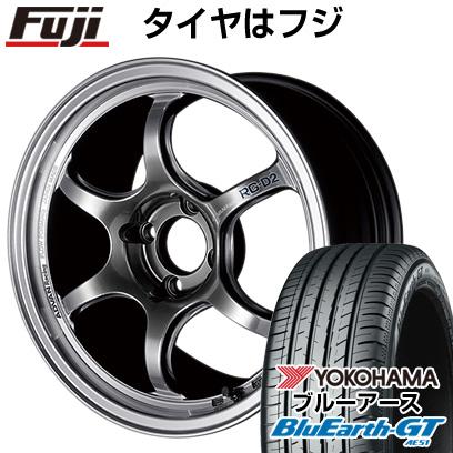 送料無料 205 45R17 17インチ YOKOHAMA ブルーアース GT AE51 年間定番 サマータイヤ RG-DII ホイール4本セット アドバンレーシング 7J 激安通販 7.00-17 クーポン対象 ヨコハマ 取付対象