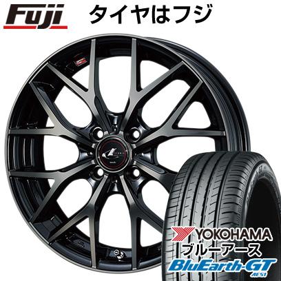 【取付対象】 【送料無料】 155/65R14 14インチ WEDS ウェッズ レオニス MX 4.5J 4.50-14 YOKOHAMA ヨコハマ ブルーアース GT AE51 サマータイヤ ホイール4本セット