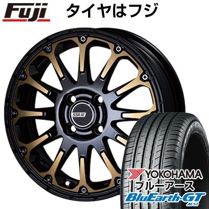 【送料無料】 165/55R15 15インチ SSR ディバイド FT 5J 5.00-15 YOKOHAMA ヨコハマ ブルーアース GT AE51 サマータイヤ ホイール4本セット【YOsum20】