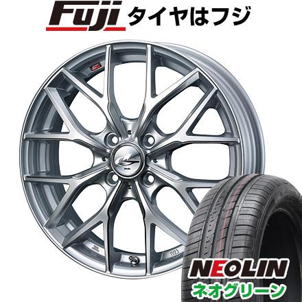 【送料無料】 165/45R16 16インチ WEDS ウェッズ レオニス MX 5J 5.00-16 NEOLIN ネオリン ネオグリーン(限定) サマータイヤ ホイール4本セット