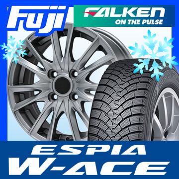 【送料無料】 FALKEN ファルケン エスピア W-ACE 165/65R14 14インチ スタッドレスタイヤ ホイール4本セット BRANDLE ブランドル 485 5.5J 5.50-14