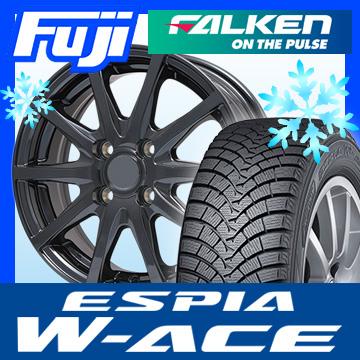 【送料無料】 FALKEN ファルケン エスピア W-ACE 155/65R14 14インチ スタッドレスタイヤ ホイール4本セット BRANDLE ブランドル M71B 4.5J 4.50-14