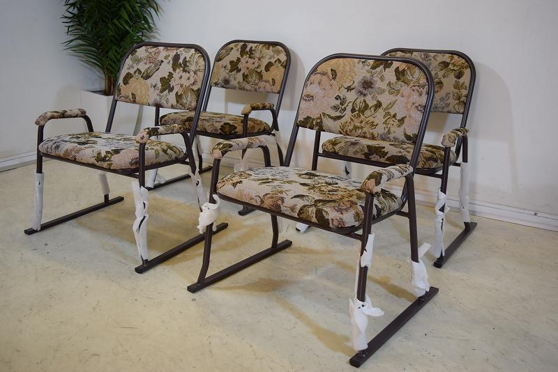 楽座椅子4点セット 花・ベージュ 新品 B31.2.21.3.5-7.Y.R