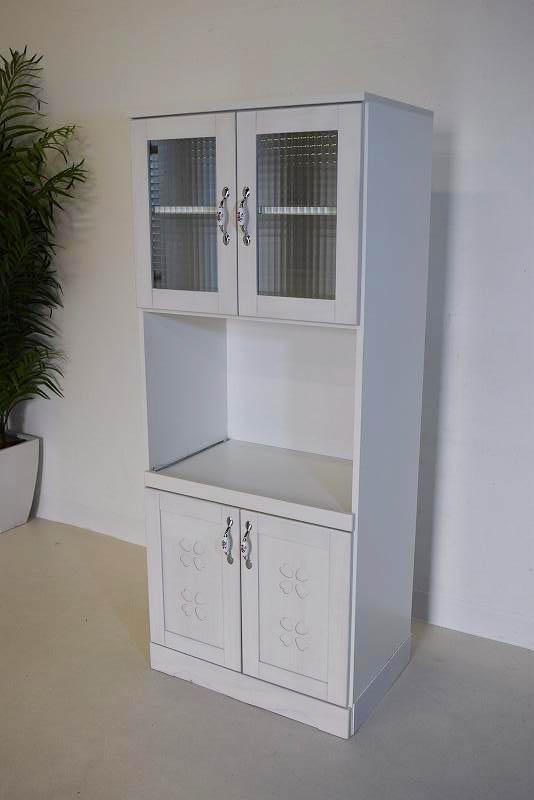 アウトレットかわいい家電食器棚 ホワイト K31.4.26.1.1-5.Y.R