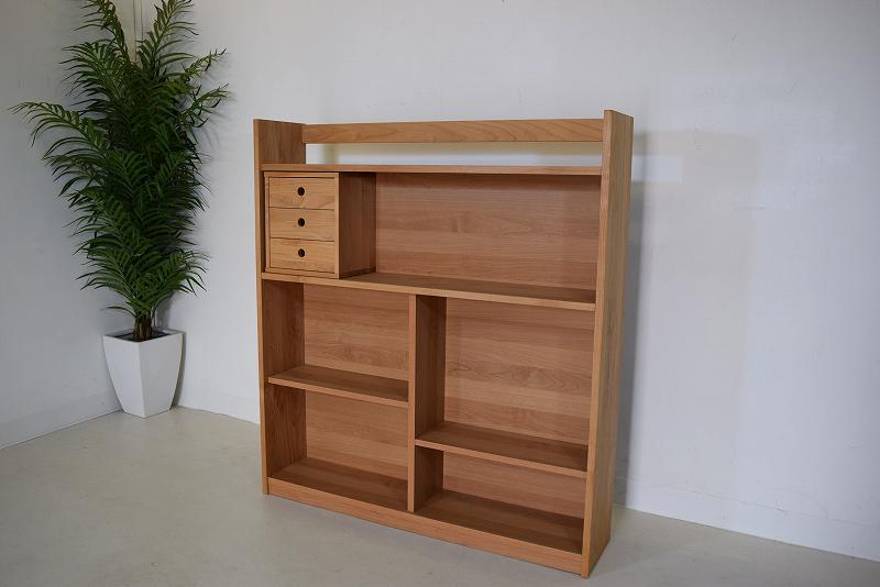 アウトレット日本製壁面天然木書棚(その1)  K1.8.2.2.7-10.Y.R