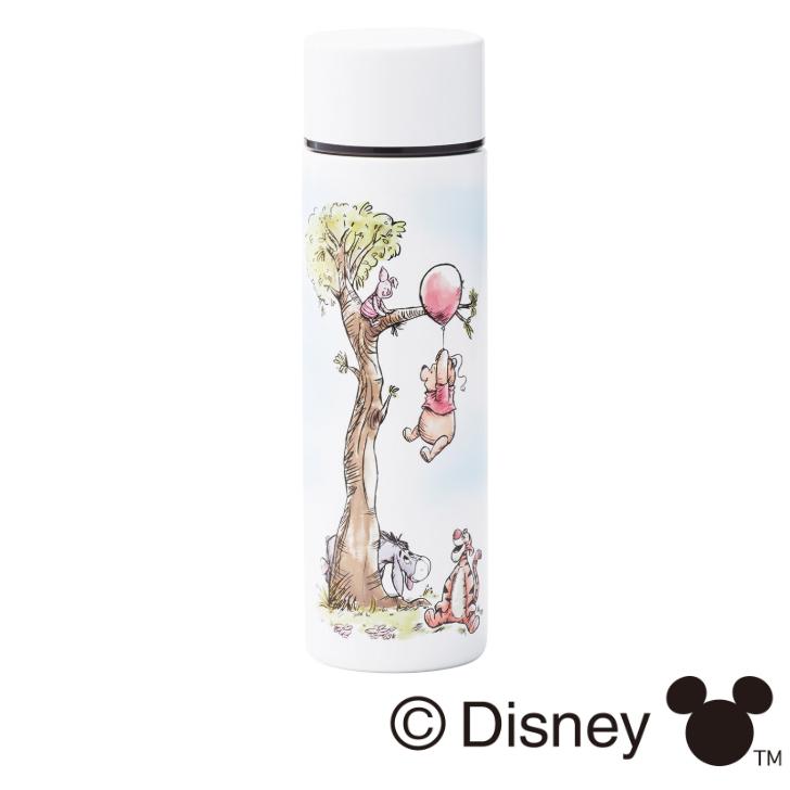 持ち運びに便利スリム ミニ水筒 ディズニー ステンレスボトル プーさん 水筒 お返し 結婚祝い お祝い 日本製 料理 激安特価品 ミニ 可愛い POOH インテリア 内祝い キッチン オシャレ Disney 安売り 誕生日 新築祝い キャラクター