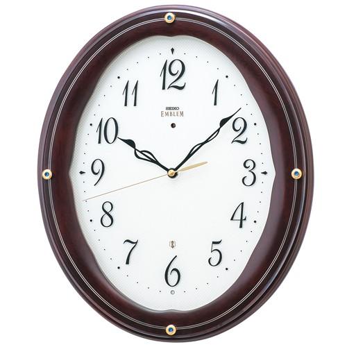 SEIKOセイコー高級電波掛時計エンブレムHS552B