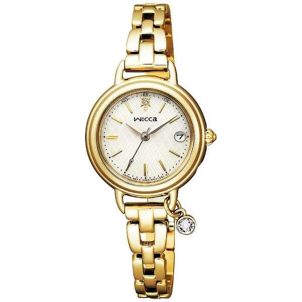 シチズン腕時計 ウィッカ ソーラー電波時計 ブレスラインKL0-511-91