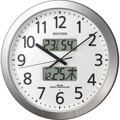 CITIZEN リズム時計掛時計プログラムカレンダー404 電波時計4FN404SR19