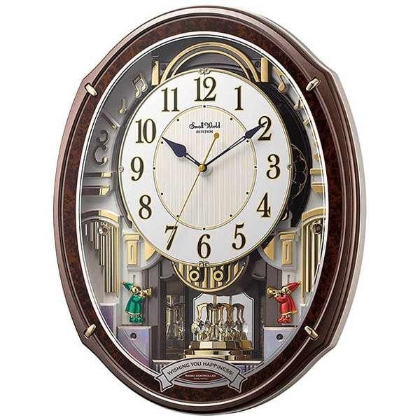 CITIZEN RHYTHM リズム時計掛時計スモールワールドアルディ電波時計4MN545RH23