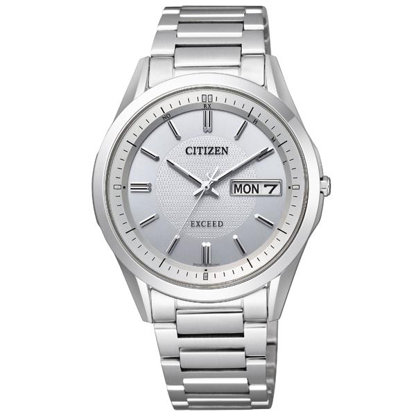 シチズン腕時計 ソーラー電波時計 エクシードディスク式デイデイトAT6030-60A