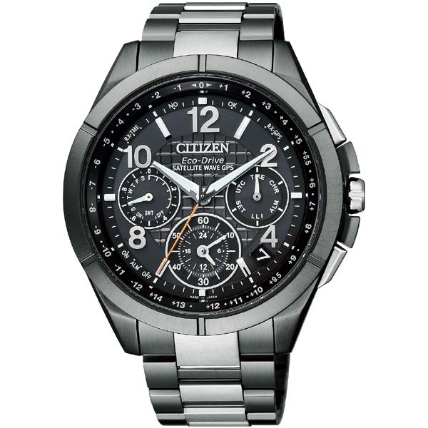 シチズン腕時計ATTESAブラックチタンシリーズ エコ・ドライブGPS衛星電波時計 F900 CC9075-52E