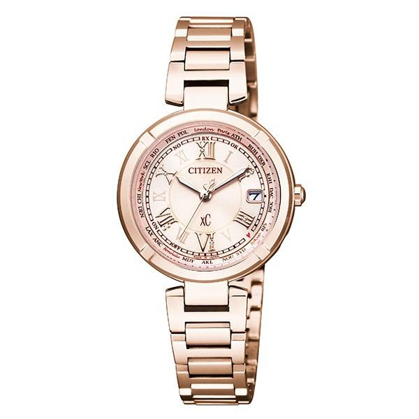 シチズン腕時計 XCクロスシーティタニア ライン ハッピーフライトサクラピンクモデル ソーラー電波時計EC1115-59W