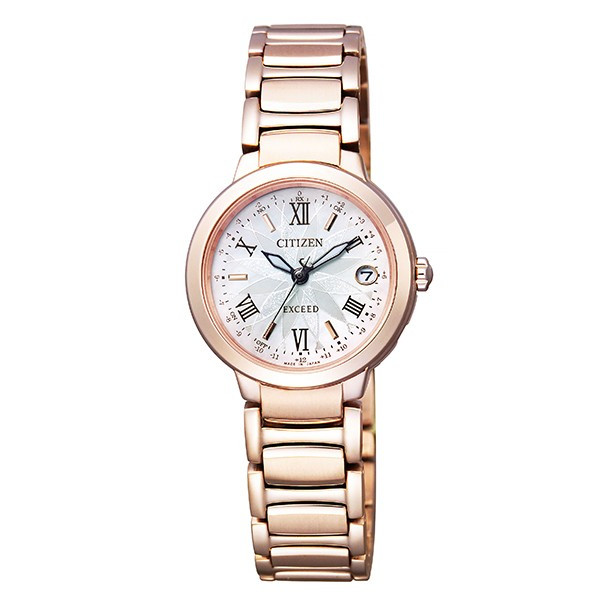 シチズン腕時計 エクシード レディス ティタニア ライン サクラピンク ソーラー電波時計ES9322-57W