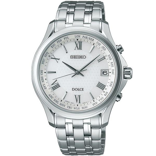 SEIKO セイコー腕時計 ソーラー電波時計 ドルチェメンズSADZ201
