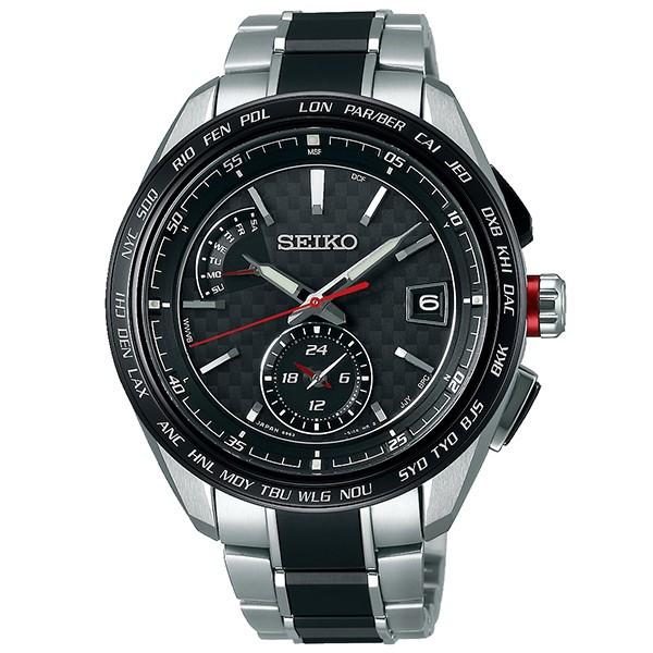 SEIKOセイコー腕時計ブライツフライトエキスパート デュアルタイム電波時計 SAGA259