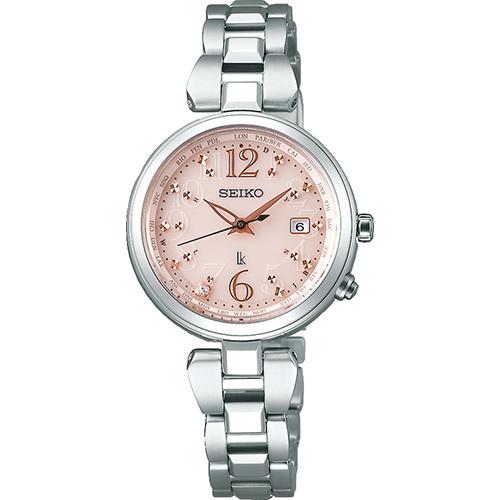 SEIKO LUKIA セイコールキア 腕時計 ソーラー電波時計 レディダイヤ ラッキーパスポート チタンシリーズ SSQV047