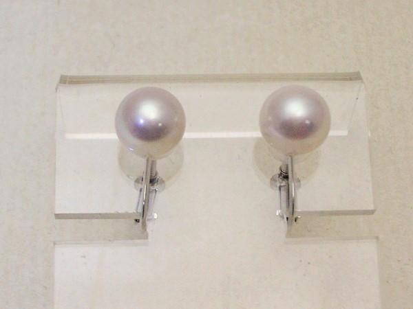 K14WG7.5mmアコヤ貝本真珠パールイヤリング101-2485
