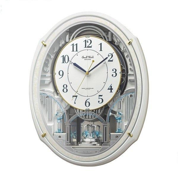 CITIZEN RHYTHM リズム時計掛時計スモールワールドアルディN電波時計4MN553RH03