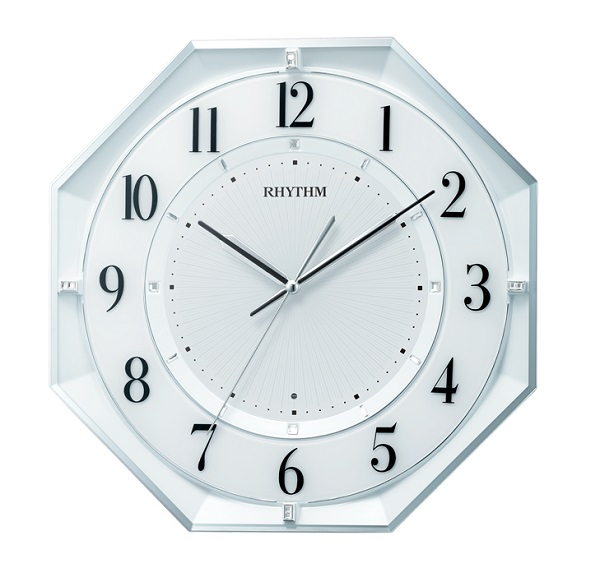 RHYTHM リズム時計電波掛時計フィットウェーブクールM552 8MY552SR03