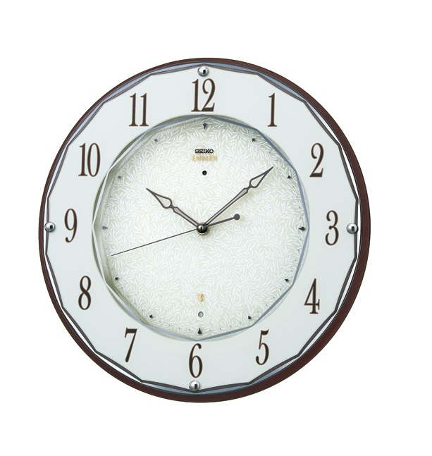 SEIKOセイコー高級電波掛時計エンブレムHS524B