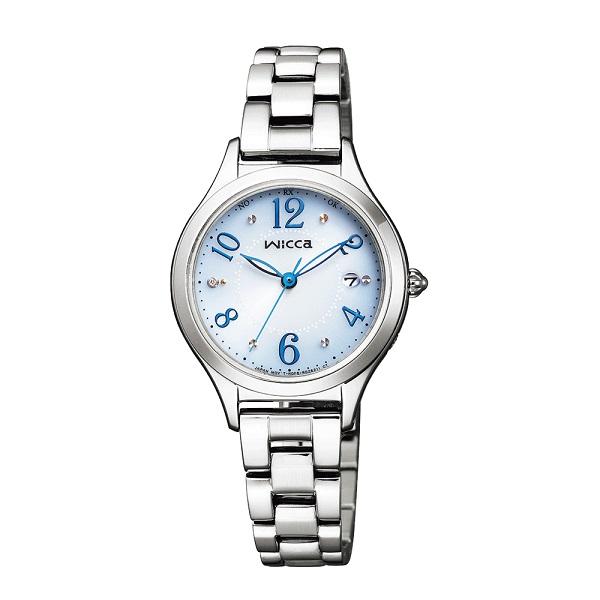 シチズン腕時計 ウィッカ ソーラー電波時計 グラデーションモデル #ときめくダイヤ KS1-210-91