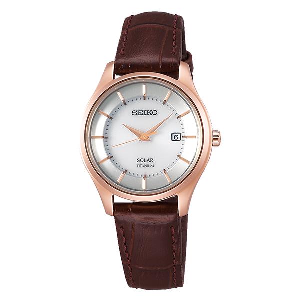 SEIKO セイコーコレクションチタン レディス ソーラー腕時計STPX046