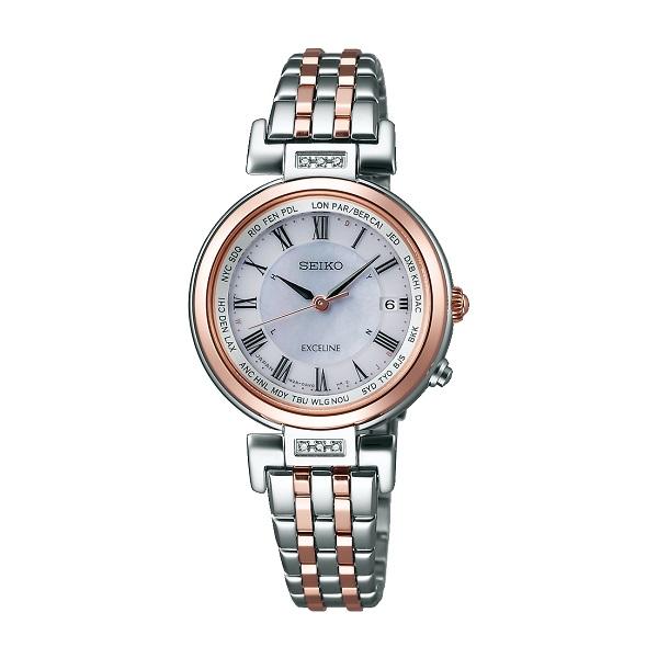 SEIKO セイコー腕時計 ソーラー電波時計 エクセリーヌSWCW106