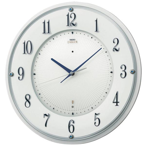 SEIKOセイコー高級電波掛時計エンブレムHS543W