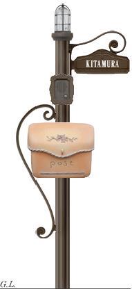 ヨーロピアン調機能門柱 シャルル 照明/ネームシールタイプ プラン1送料・代引き無料の格安ディーズガーデン ディーズポール おしゃれ 機能ポール 南欧風 プロバンス風 洋風 エクステリア