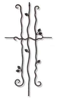 【ロートアイアン】Eロートアイアン はめ込み型化粧格子JIL-15 壁面埋め込み固定タイプ◆送料無料・代引き手数料無料鋳物 アンティーク クラシック 面格子 ラティス フェンス 仕切り