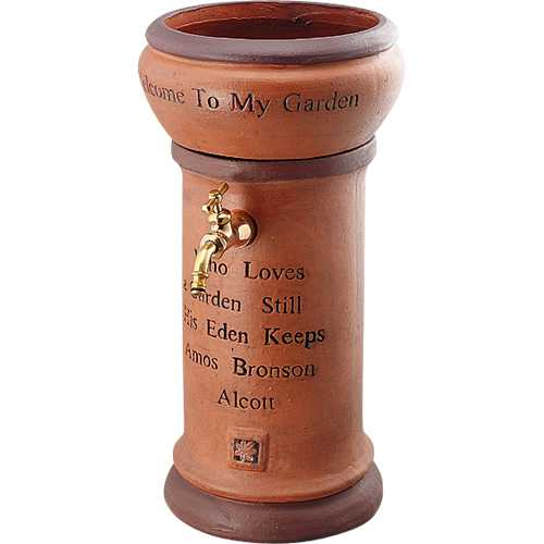 立水栓 KAシリーズ かわいい水栓柱 624-811 フラワーポット 陶器製 散水栓 ウォーターガーデン 手洗い場 プランター 水道 エクステリア