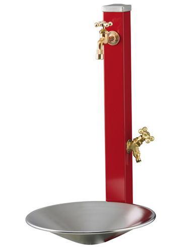 【立水栓】ウォータースタンドセット・スプレスタンド70(蛇口2個付) 焼付け塗装・シャインポット送料・代引き手数料無料の格安