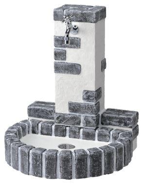 【立水栓ユニット】立水栓ユニット レトロブリックタイプ◆送料・代引き手数料無料