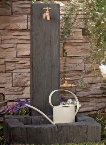 【立水栓ユニット】立水栓ユニット ランバータイプ+ランバーパン地中・補助蛇口配線仕様◆送料・代引き手数料無料