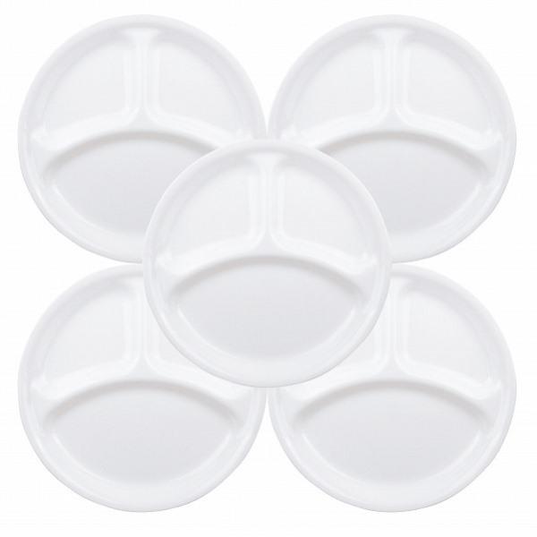 コレールウインターフロストホワイトランチ皿(大)5枚セットCP-8914