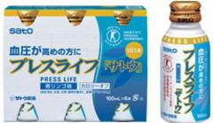 血圧が高めの方に 特定保健用食品 数量は多 プレスライフ 使い勝手の良い 単品JAN 100ml×6本 4987316081892
