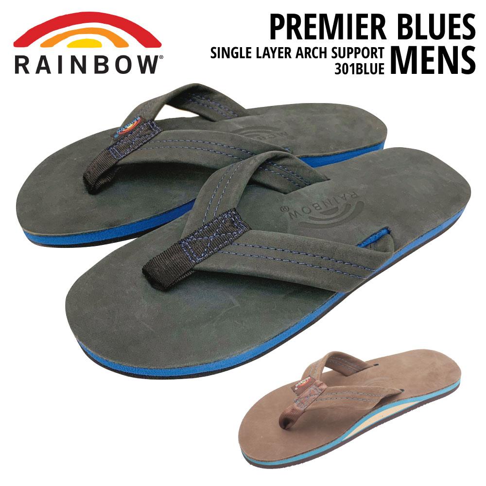 レインボーサンダル プレミア・ブルー メンズ 301BLUERAINBOW SANDALS PREMIER BLUES MENSサイズ S M L XL(レザーサンダル ビーチサンダル 水 ハワイ)【送料無料】