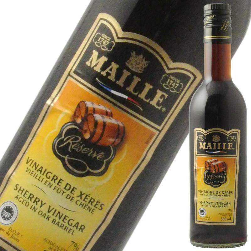 MAILLEのワインビネガー 卸売り マイユ シェリー酒ビネガー 500ml 2020秋冬新作 ギフト お歳暮 御歳暮