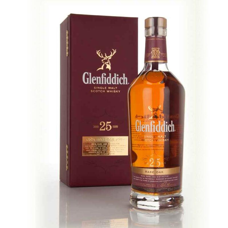 グレンフィディック25年 レア・オーク 豪華化粧箱入り 43度 700ml Glenfiddich 25YO Rare Oak