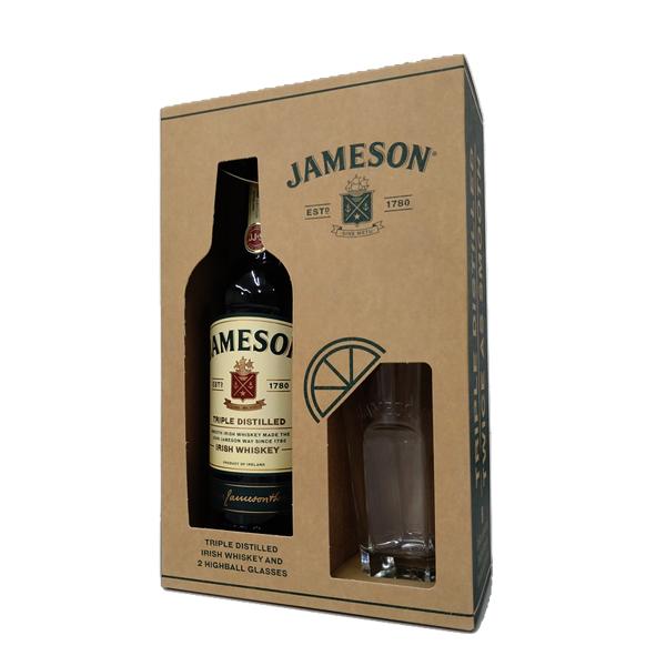 世界中で最も愛されるアイリッシュウイスキー グラス2脚付きボックスセット ジョン ジェムソン 700ml トレンド お中元 ギフト 注文後の変更キャンセル返品