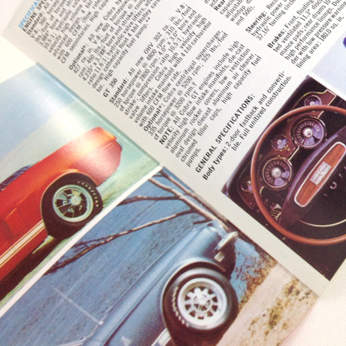 GT500 Owner/'s Manual 1968 Shelby Cobra GT350