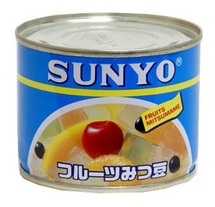 サンヨー フルーツみつ豆缶 訳あり品送料無料 1個 直送商品 蜜豆 SANYO 缶詰