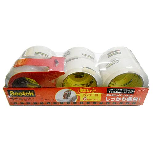 重ね貼りができるのでしっかり梱包 特売 公式サイト スコッチ ハイクオリティ スリーエム 透明梱包用テープ Costco 3M Scotch コストコ 50m×6巻パック